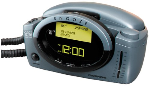 Conair CID400 Clock Radio Phone with Caller ID (Gray)