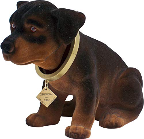 Rottweiler Head - Wackeldackel Bobblehead Dogs (Rottweiler, Large)