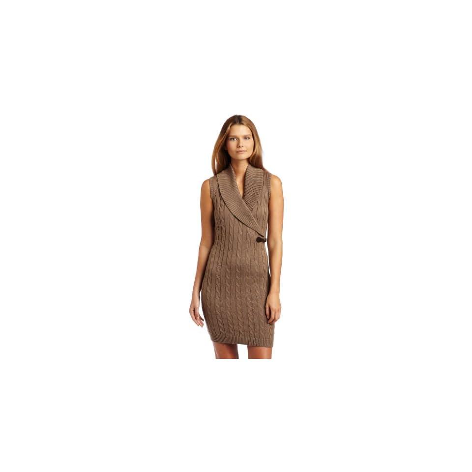 Calvin Klein Womens Shawl Collar Sweater Dress