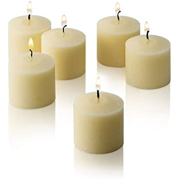 Light In The Dark Ivory Votive Candles - Box of 72 Unscented Candles - 10 Hour Burn Time - Bulk Candles for Weddings, Parties, Spas and Decorations