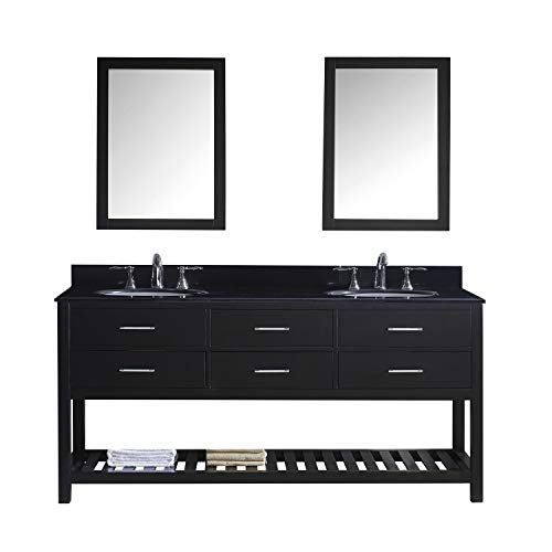 Virtu USA MD-2272-BGRO-ES Caroline Estate Double Bathroom Vanity Cabinet Set, 72