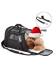 Haustier-Tragtasche Atmungsaktive Reise-Netztasche mit Sicherheits-Reißverschluss Schwarze Farbe Reisetasche
