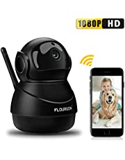 FLOUREON WiFi IP Camera 1080P HD Wireless CCTV Security Camera Baby/Elder/Pet Monitor Pan/Tilt Surveillance Camera with Two-Way Audio Night Vision Motion Detection Remote View Card & Cloud Storage