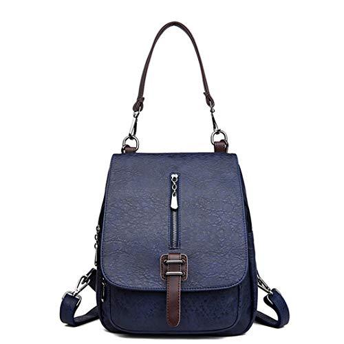 Gensotrn sac dos bandoulière cuir dos en Voyage sac les Multifonction Blue véritable sac adolescentes filles r4HpYarqc