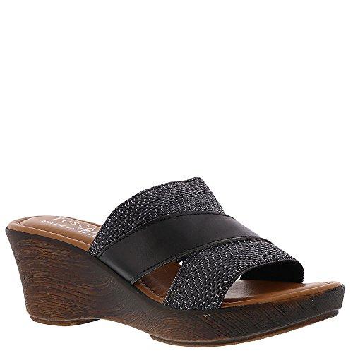 Easy Street Positano Kvinners Sandal 8 C / D Oss Svart sko. Logg inn som  kunde. Opprett konto Bernardo Kvinners Jinx Ny Metallic Thong Sandal  Sjokolade