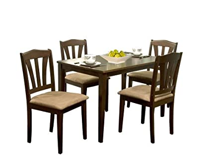 Target Marketing Systems TMS 5 Piece Hamilton Dining Set, Espresso
