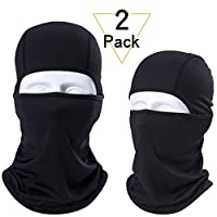 JIUSY 2 Pack or 1 Pack - Balaclava Face Mask Helmet Liner Protection for Tactical Motorcycle Cycling Hunting Hiking Skiing Snowboard