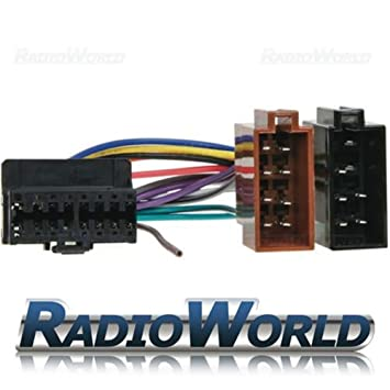 41H88RrbWuL._SY355_ iso wiring harness connector adaptor for pioneer 16 pin amazon co iso wire harness at highcare.asia