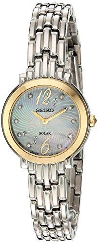 (Seiko Women's Tressia Japanese-Quartz Watch with Stainless-Steel Strap, Silver, 10 (Model: SUP354))
