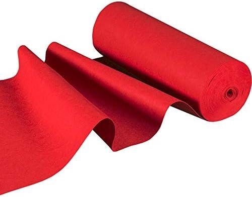 バルコニーカーペット 厚手の布のカーペット、ステージの展覧会のオープニング結婚式のお祝いのための防湿耐摩耗性の柔軟なグレー起毛カーペット (Color : Red, Size : 1 m X 30 m)