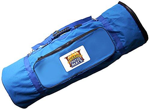 Fireside Patio Mats Blue Mat Carry Bag with adjustable shoulder strap for 6-Feet x 9-Feet 1020_6x9_Blue_Bag