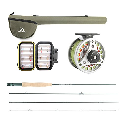 M MAXIMUMCATCH Maxcatch Extreme Fly Fishing Rod Combo Kit 3weight (3wt Rod Combo)