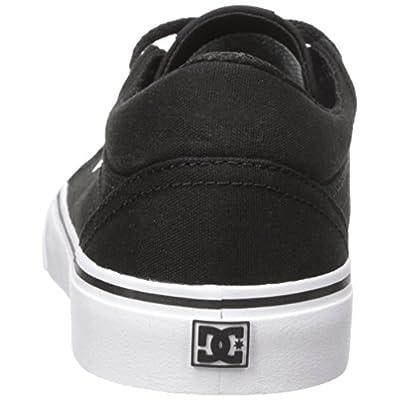 DC Men's Trase TX Skate Shoe, Black/White, 9 M US | Skateboarding