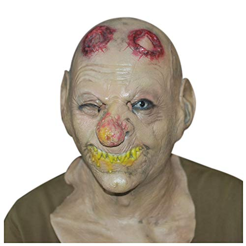 Novelty Halloween Costume Party Props Pennywise Cosplay Big Nose Scary Clown Mask (Picture -