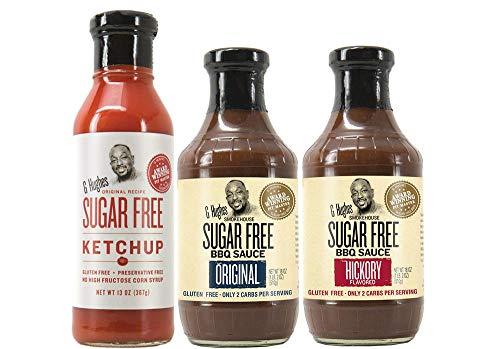 G Hughes Sugar Free Ketchup 13 oz Original Sugar Free BBQ Sauce 18 oz Sugar Free Hickory BBQ Suace 18 oz