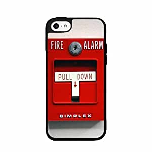 Red Fire Alarm - Phone Case Back Cover (iPhone 5/5s - TPU Rubber Silicone)