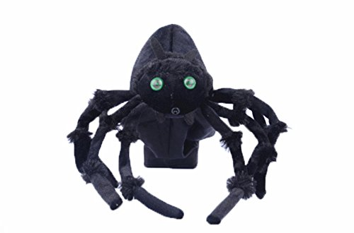 [Halloween Decorations Jumping Spider Plush Scary Haunted House Yard Decor Props Black] (Black Spider Animated Prop)