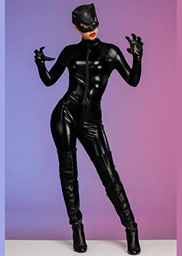 Disfraz de Catwoman Negra para Mujer Medium (UK 12-14): Amazon.es ...