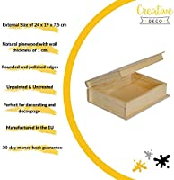 Creative Deco Grande Caja Libro Madera para Decorar | 24 x 19 x 7 ...