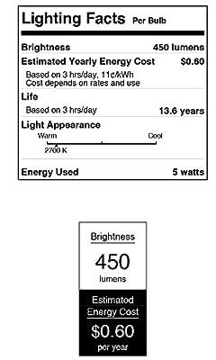 Westinghouse 4513400 40W Equivalent A15 Soft White Led Light Bulb with Medium Base