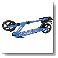 Urban 7XL Deluxe kick scooter Adjustable to Kid and Adult Size (Blue)