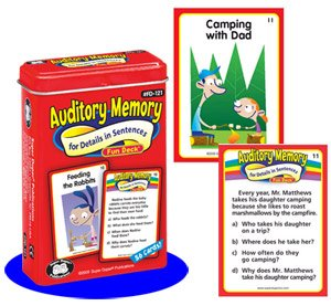 (Super Duper Publications Auditory Memory for Details in Sentences Fun Deck Cards Educational Learning Resource for)