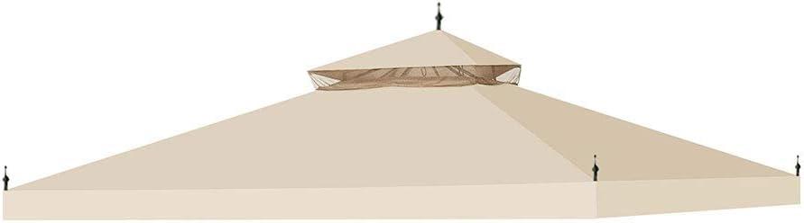 Yescom 10'x10' Canopy Top Replacement for Arrow Gazebo 2 Tier Beige Outdoor Garden Yard Patio Cover
