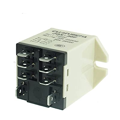 Smart Meter JQX-30F 2Z Snap In Type DPDT General Power Relay 8 Pin DC 24V 30A