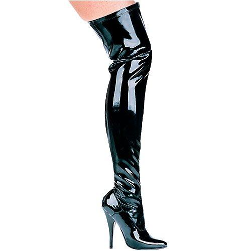 Ellie Shoes Women's 5 inch Heel Thigh High Stretch Boot B000AY0Q14 13 B(M) US|Black
