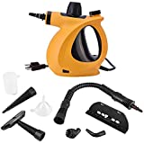 Ejoyous Handheld Pressurized Steam Cleaner, 9 in 1 Multi-Purpose and Chemical-Free Steam Cleaner for Kitchen, Bathroom, Bedroom, Garment, Car (Orange)