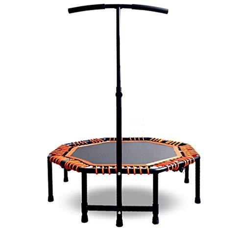 LKFSNGB Indoor/Outdoor Fitness Mini Octagonal Trampoline with Adjustable Handlebar