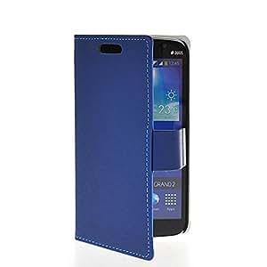 Wadinter [Azul] For Samsung Galaxy Grand 2 G7106 Funda Carcasa PU de Cuero Ultra Delgado Flip Folio Case Cover Wallet Billetera Soporte Stand con Ranura de La Tarjeta de Crédito