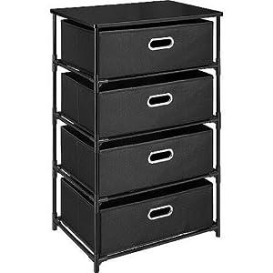 Altra 7775096 4 Drawer Canvas and Metal Storage Black  sc 1 st  Amazon.com & Amazon.com: Altra 7775096 4 Drawer Canvas and Metal Storage Black ...