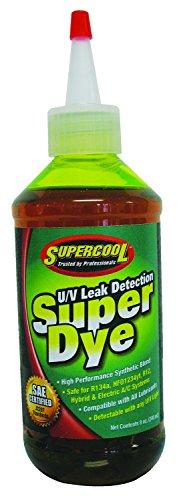 TSI Supercool 24452 Yellow SAE Certified Super Dye, 8 oz (Treats 32-Vehicles – Squeeze Tip Bottle)