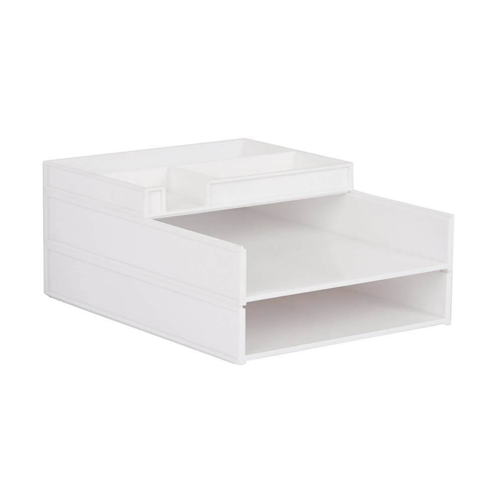 ZAIYI Bücherregal Desktop-Organizer Multilayer-Kunststoff-Datenkorb Büromaterial,B B07CW7WQZ5 | Modern Und Elegant In Der Mode