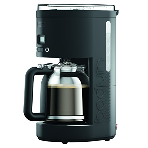 Bodum 11754-01US Bistro Maker Programmable Coffee Machine with Borosilicate Glass Carafe, 51 oz, Black