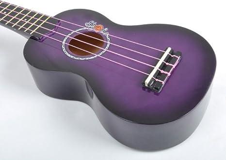 UKE 1 K PP ukelele SX de rosa UKE morado con bolsa de transporte: Amazon.es: Instrumentos musicales