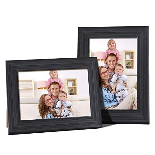 Giftgarden 3.5x5 Picture Frames Black Frame Desktop Display and Wall Decor Set of 2 Piece
