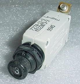 7274-11-3, MS22073-3, 3A Slim Klixon Airplane Circuit Breaker -Rev