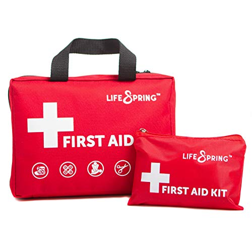 First Aid Kit with Bonus Mini Kit - 160 Piece All-Purpose Emergency Kit for Car, Home, College, Work, Sports, Hiking, Camping, Travel ~ Paramedic-Designed ~ Fully Stocked with 34 Unique Items