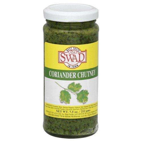 Swad Coriander Chutney, 7.5 Ounce (Pack of 12)