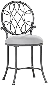 Amazon Com Hillsdale O Malley Vanity Stool Gray Kitchen