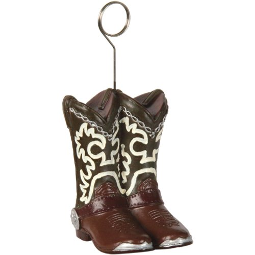 Cowboy Boots Photo/Balloon Holder Party Accessory (1 count) for $<!--$4.19-->