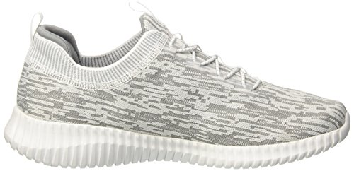 Hartnell Skechers 45 Enfiler Gris Noir Homme 5 EU Blanc Baskets Grey White Flex Elite 8nHWwHE