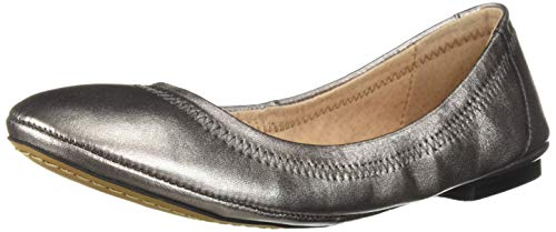 206 Collective Women's Joy Ballet Flat, Pewter Metallic Leather, 10 B US