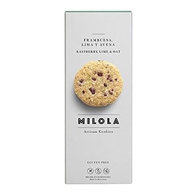Milola - Galletas de Frambuesa, Lima y Avena - 140 gramos: Amazon.es: Alimentación y bebidas