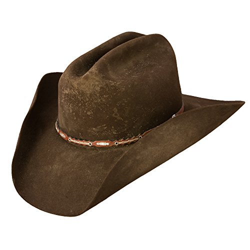 Distressed Cowboy Hat (Stetson SFBOTP-9990 Boss Of The Plains Hat, Assorted Brown - 7 1/4)