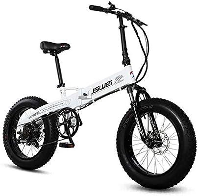 SHIJING Bicicleta Plegable eléctrica 20 Pulgadas 4.0snow ...