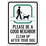 Bitte Be a Good Neighbor Clean up After Your Dog Sign - 14