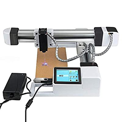 3000mW Off-line Laser Engraving Machine, USB Mini Desktop Laser Engraver Printer, Carver Size 155x175mm, High Speed Laser Engraving Cutter for Wood, Plastic, Bamboo, Paper, Leather
